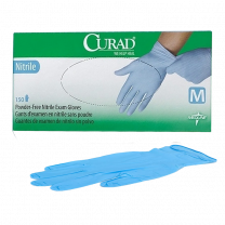 CURAD Nitrile Exam Gloves, Latex Free, Blue