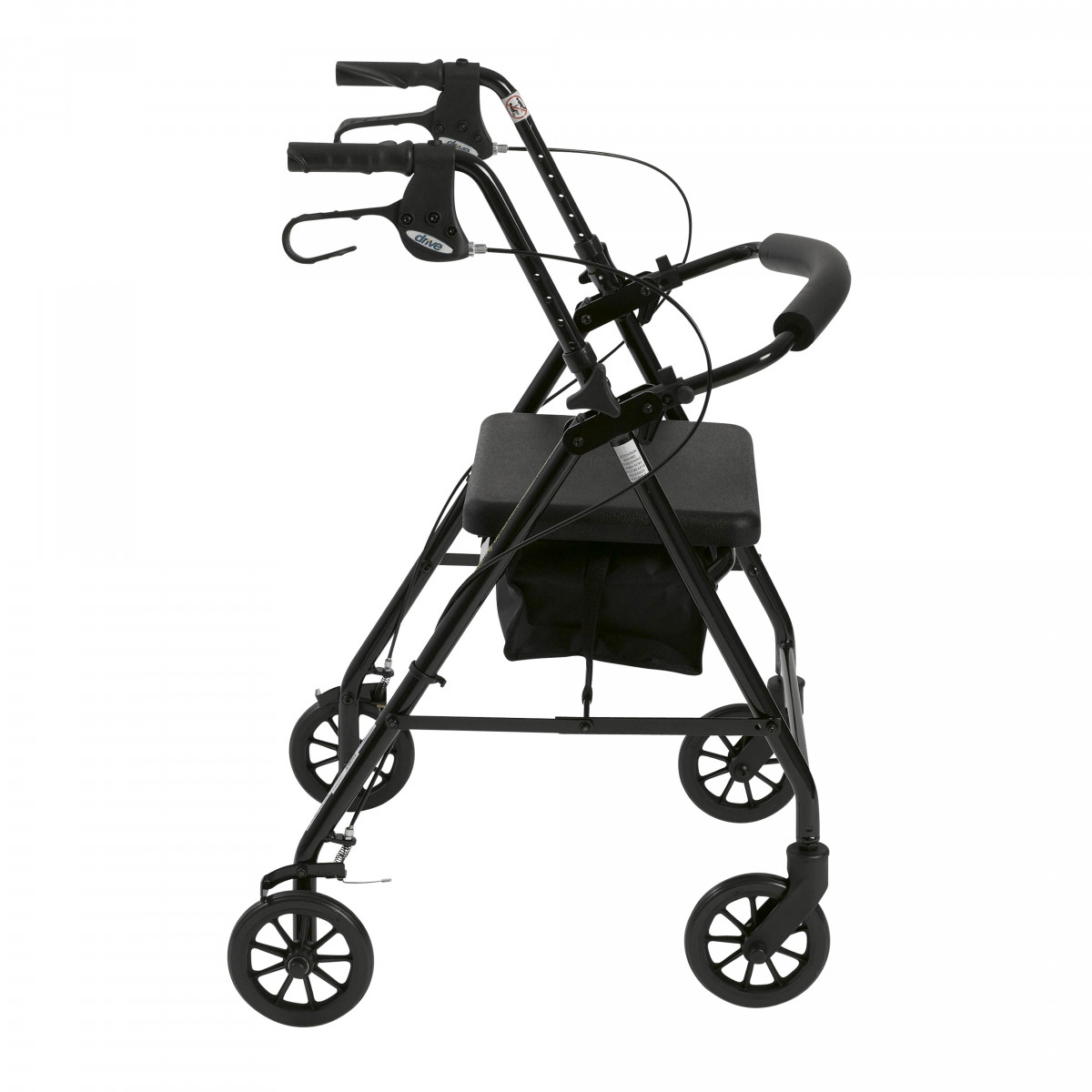 lightweight rollator with fold up and removable back support by drive f71