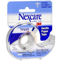 3M Nexcare Gentle Paper Tape 3/4 inch x 8 Yards, White - 789