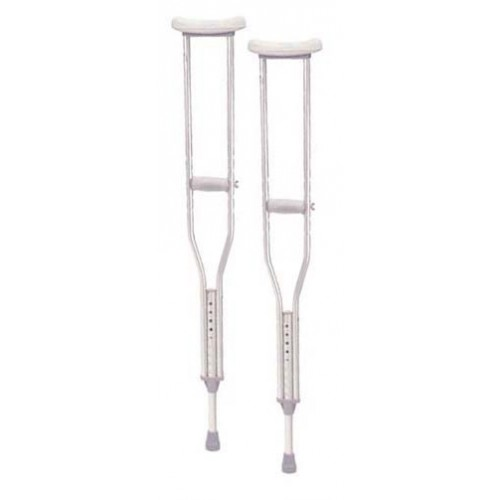 Walking Crutches Aluminum with Comfortable Underarm Pad and Handgrip