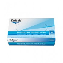 ProWorks Latex Powdered Disposable Gloves