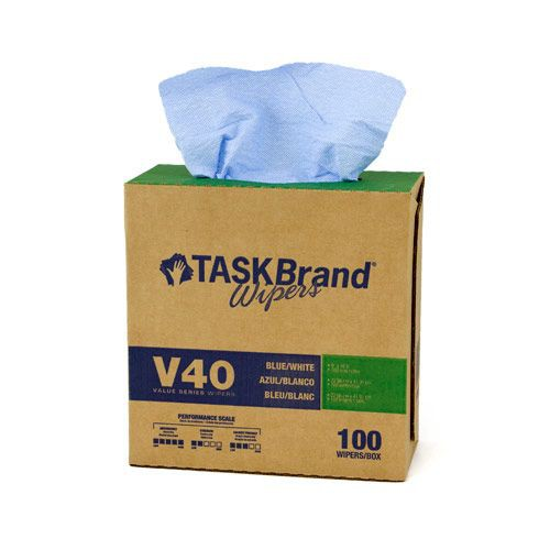 Taskbrand V40 Hw Drc, Interfold, Dispenser, Blue Wipers