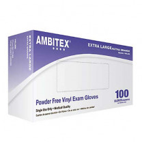 Ambitex Powder Free Vinyl Exam Gloves V200 Series