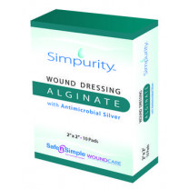 Simpurity Wound Dressing Alginate with Antimicrobial Silver
