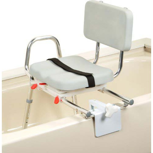 Transfer Bench Tub Mt. Swivel Padded Seat with Back X-Short
