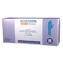 Medi-Pak Performance Nitrile Fully Textured Blue Exam Gloves Powder Free - NonSterile