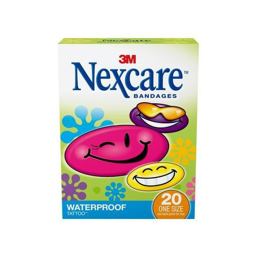 Nexcare Tattoo Waterproof Bandages 1 Inch 3m 59420 20 Ct