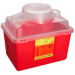 14 Quart Red BD Stackable Sharps Container Regular Funnel with Clear Top 305464
