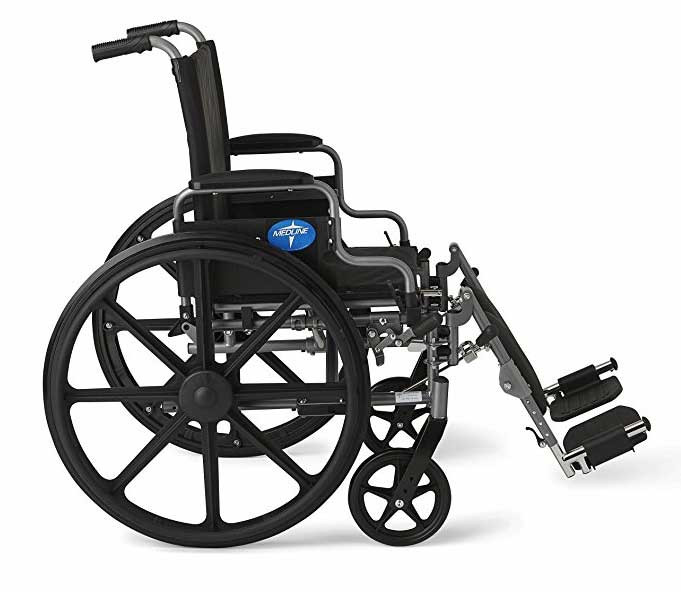 medline strong and sturdy wheelchair f83