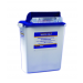 18 Gallon White/Blue SharpSafety Waste Container with Gasketed Hinged lid 8870