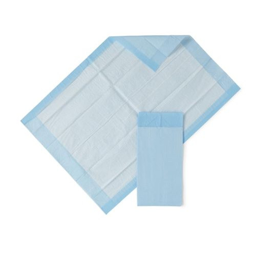 Medline Light Absorbency Fluff Disposable Underpad, Great For Changing Table and Surfaces