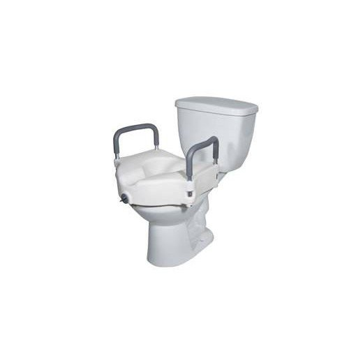 Elevated Raised Toilet Seat with Removable Arms