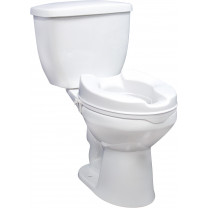 Raised Elevated Toilet Seat with Lock