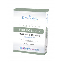 Simpurity FiberGel AG Alginate Wound Dressing with Antibacterial Silver