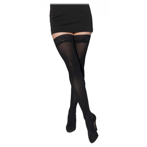 Sigvaris 841N Soft Opaque Thigh High Compression Stockings CLOSED TOE 15-20 mmHg
