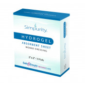 Simpurity Hydrogel Absorbent Sheet Wound Dressing