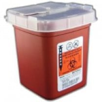 1 Pint Red SharpSafety Phlebotomy Sharps Container