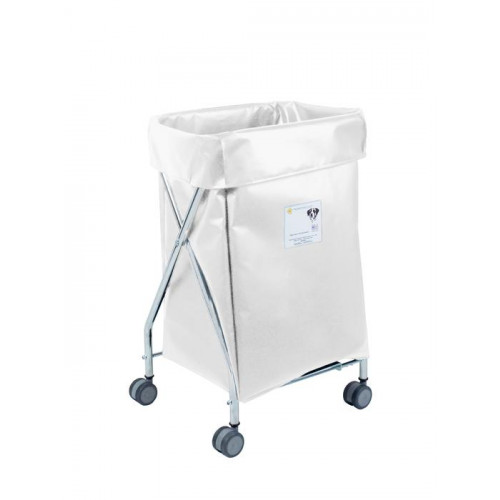 R&B Wire Products Wide Collapsible Hamper with Vinyl Bag