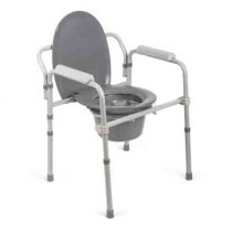 Medline Steel Elongated Bedside Commode