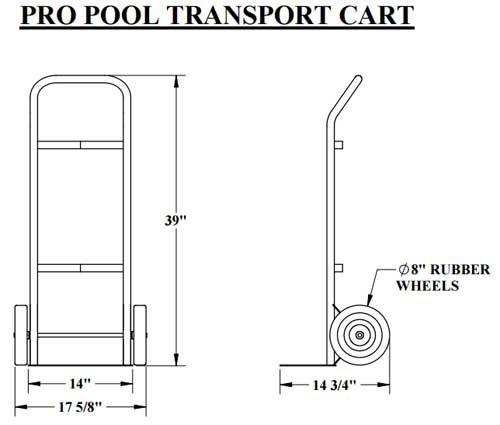 aqua creek pool lift transport cart bcc