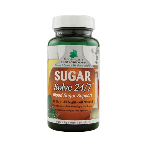 American Bio Sciences SUGAR Solve 24 7 Dietary Supplement