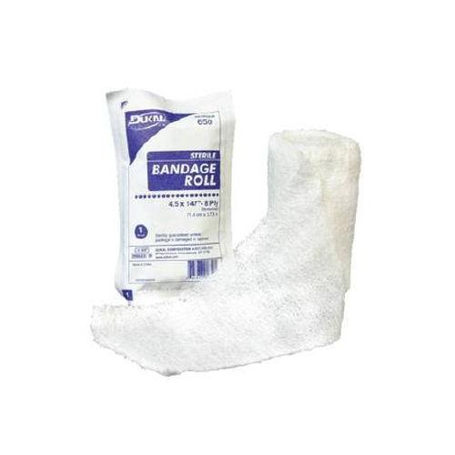 Dukal 545 Coton Gauze Bandage Roll 4inx4yds 6 Ply