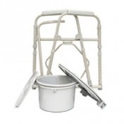 ProBasics Deluxe Folding Commode with Elongated Seat