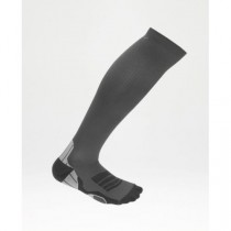 Men's Compression Sock for Recovery, Titanium/Black