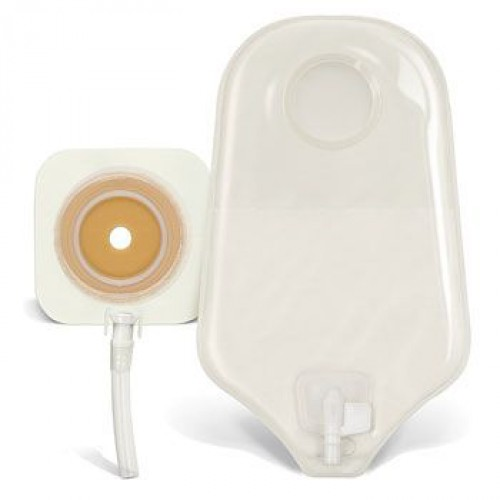Stomahesive Flexible Skin Barrier and Drainable Pouch Unit Dose Kit Transparent