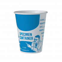 Solo Paper Specimen Cup Blue and White