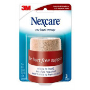 Nexcare No Hurt Cohesive Compression Wrap NHT-3 | Tan 3 Inch x 80 Inch by 3M