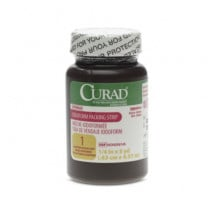 CURAD Iodoform Gauze 1/4 in x 5 yd Packing Strip