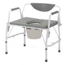 Deluxe Heavy Duty Bariatric Drop Arm Commode by Drive