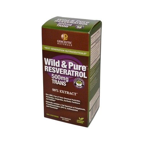 Genceutic Naturals Wild and Pure Resveratrol Dietary Supplement
