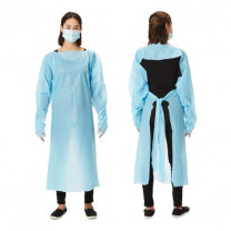 Over-the-Head Protective Procedure Gown -Open Back