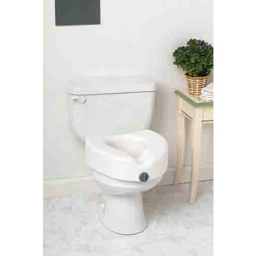 Elevated Locking Toilet Seat