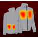 VentureHeat Soft Shell Heated Jacket City Collection Heating Element Locations