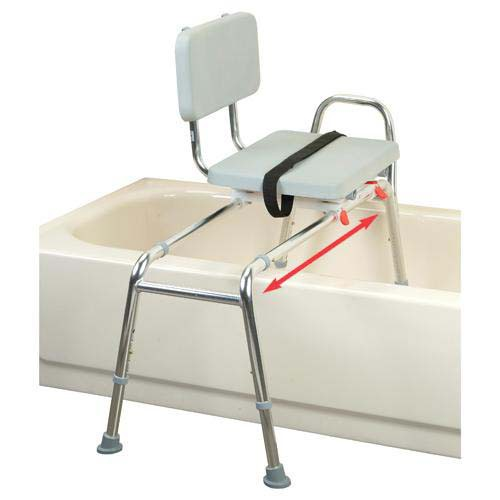 Transfer Bench with Back and Padded Swivel Seat - X-Long