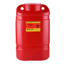5 Gallon Red BD Sharps Container Large Funnel 305477