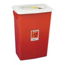 8 Gallon Red SharpSafety Sharps Container with Gasketed Slide Lid 8997S