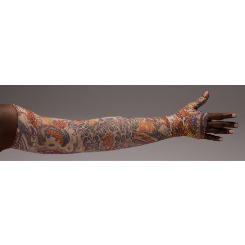 LympheDivas Lotus Dragon Tattoo Compression Arm Sleeve 20-30 mmHg