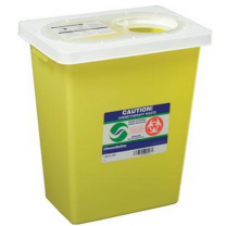 8 Gallon Yellow SharpSafety Chemotherapy Container with Slide Lid 8985S