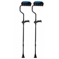 Ergobaum Dual Ergonomic Underarm Crutches with Shock Absorbers