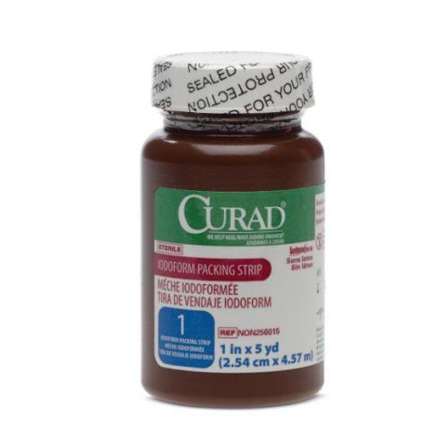 CURAD Iodoform Gauze 1 in x 5 yd Packing Strip