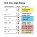 TED Knee High Stocking Size Chart