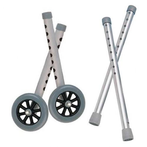 "Drive Deluxe Extended Height 5"" Walker Wheels and Legs Combo Pack"