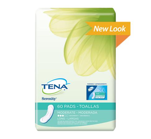 tena serenity pads moderate absorbency long 070