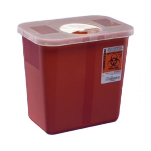 5 Quart Red Multi-Purpose Sharps Container Round Design 8950SA