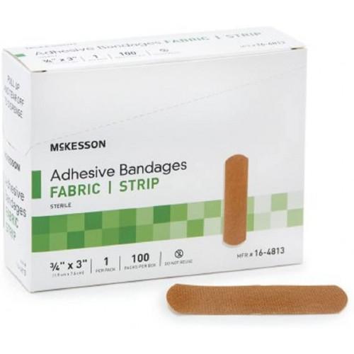 McKesson Fabric Strip Adhesive Bandages