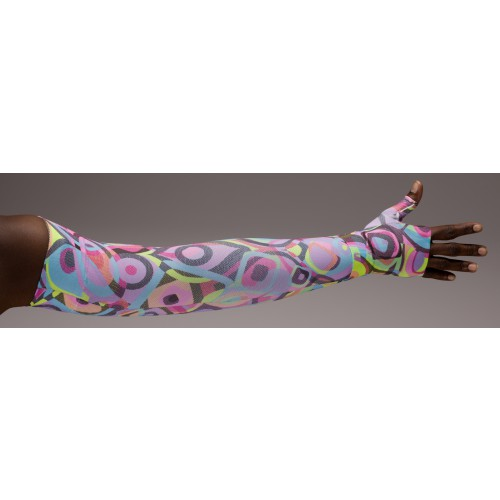 LympheDivas Neon Glow Compression Arm Sleeve 20-30 mmHg w/ Diva Diamond Band